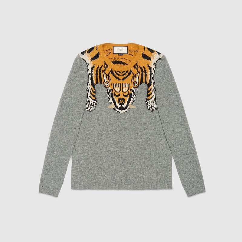 4db020041 Wool sweater with tiger | My Taste of Fashion | Men sweater, Sweater ...