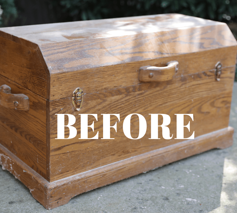 BEFORE & AFTER: Using Liming Wax on an Oak Wood Chest ...