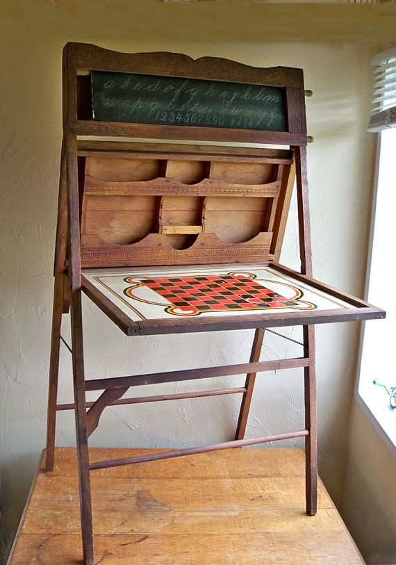 Antique Turnofthecentury Chalkboard Easel By