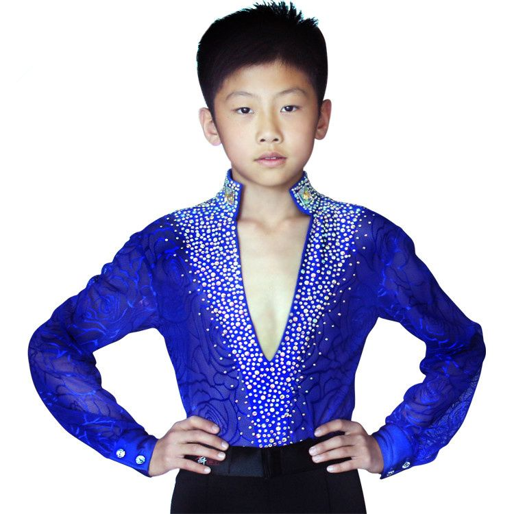 d841ba317516 Hot Sale Latin Dance Competition Costumes Kids Boys Latin Ballroom Dance  Dress Suit Performance Clothing-in Latin from Novelty & Special Use on ...