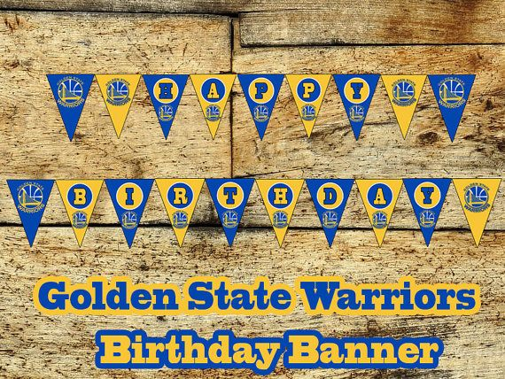 golden state warriors birthday banner diy by sportfundigital bday