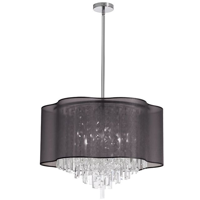 Shop dainolite lighting 8 light crystal large pendant at lowes canada find our selection of pendant lights at the lowest price guaranteed with price match