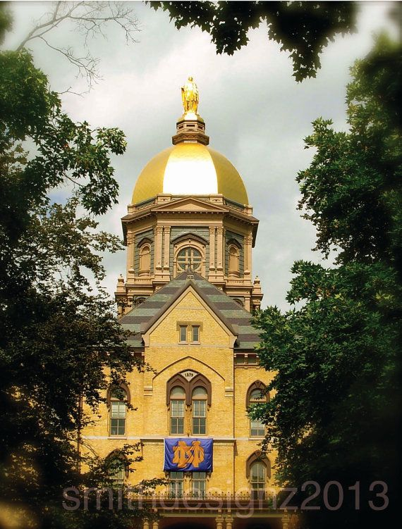 Notre dame university the golden dome photography home for Notre dame home decor