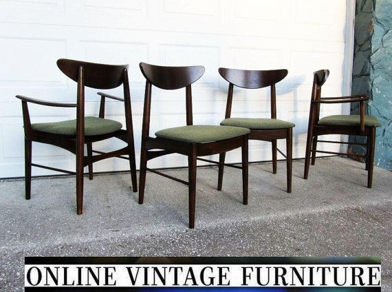 4 RESTORED 1950s Chairs By Stanley Furniture Vintage Mid Century Midcentury  Mid Century Modern Dining Room Chair Set Modern Arm Side