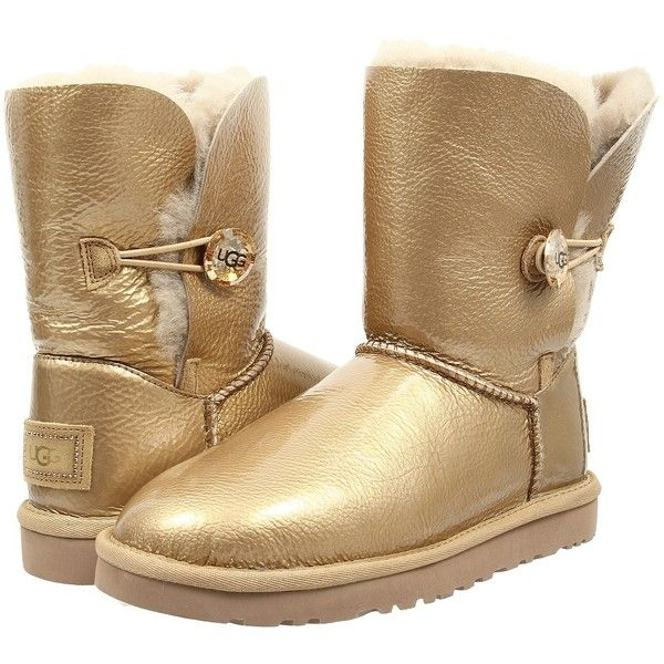 Womens Boots UGG Bailey Button Mirage Soft Gold Twinface