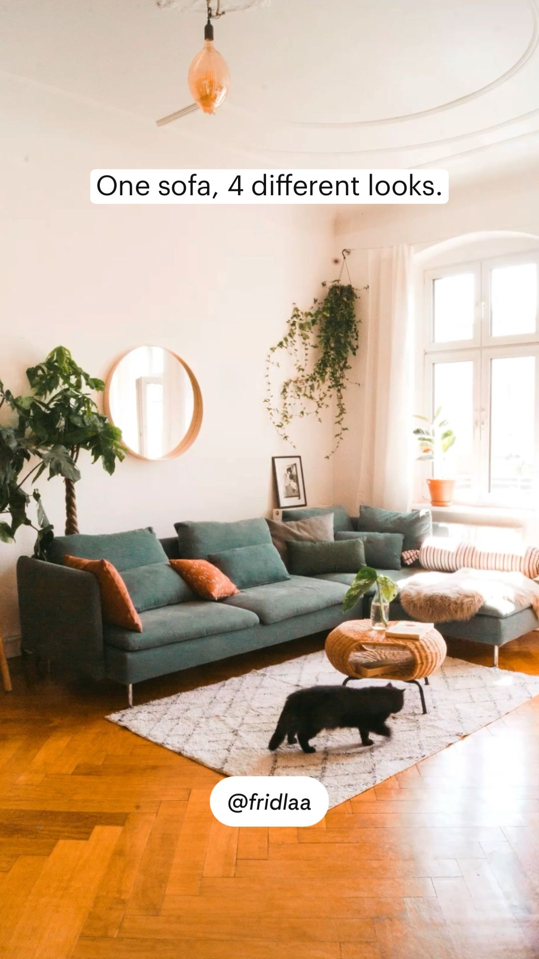 One sofa, 4 different looks.