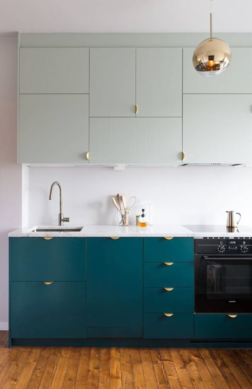 the kitchen cabinet color i m obsessed with in 2020 teal kitchen kitchen cabinets color on kitchen cabinets color combination id=57873