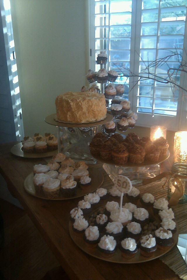 Golden Wedding Anniversary Dessert Table 50th Anniversary Cakes 50th Anniversary Celebration 50th Anniversary Party