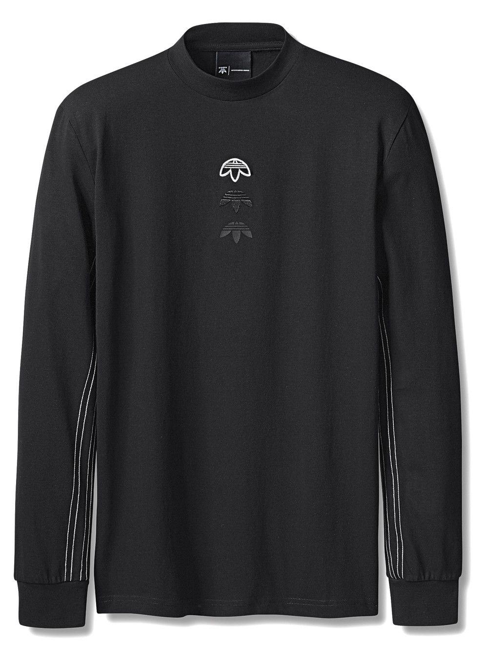 Black · ADIDAS ORIGINALS BY ALEXANDER WANG Long Sleeve Logo Tee ...
