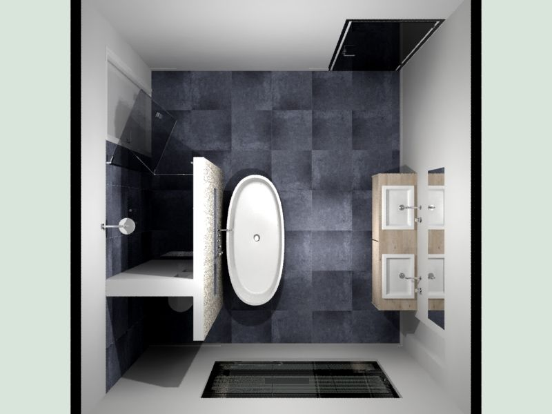Badkamer indeling voorbeeld de eerste kamer ba os pinterest bath room toilet and bath for Plan kleine badkamer