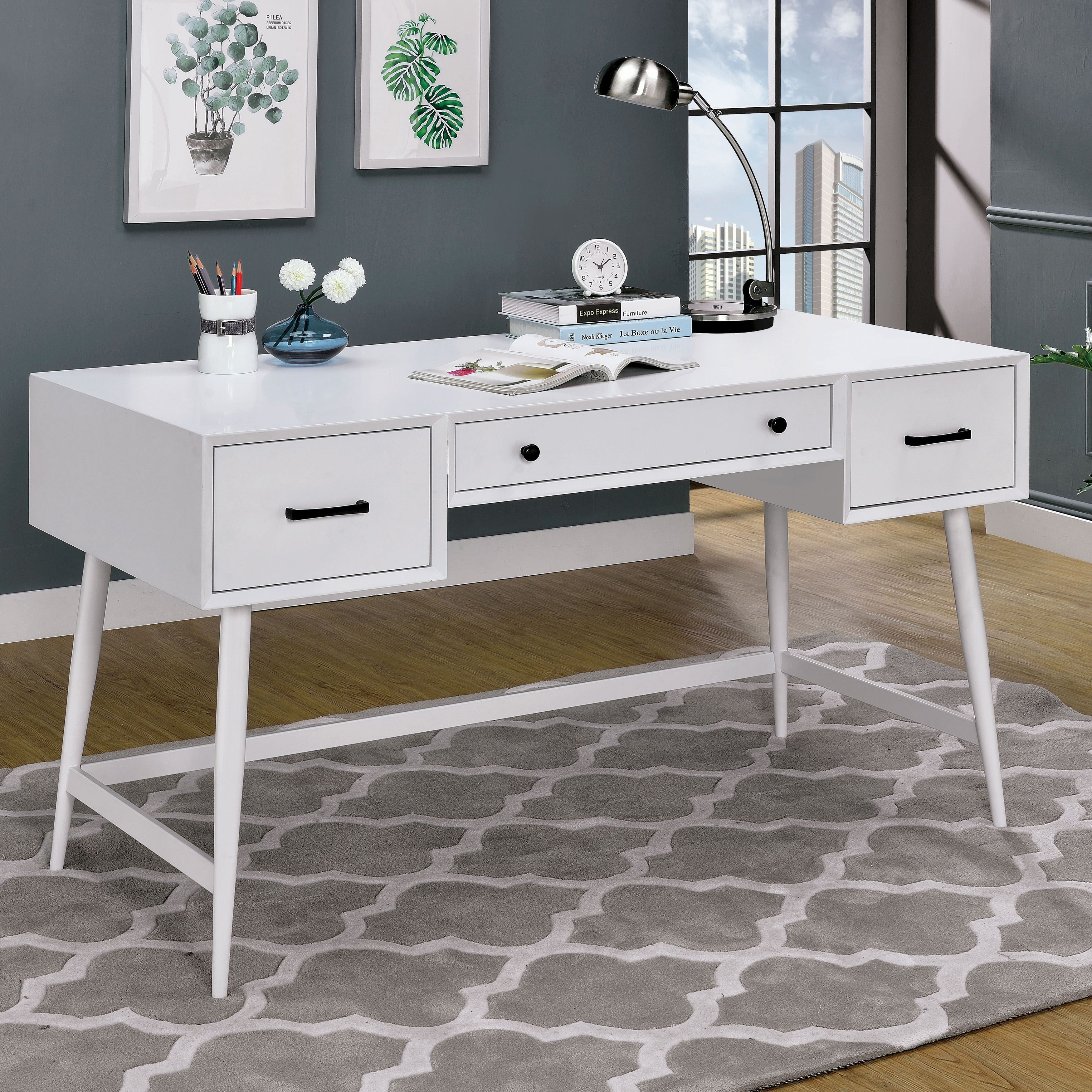 flair office most corner with l shaped computer drawers grey desk drawer white table writing gray skookum