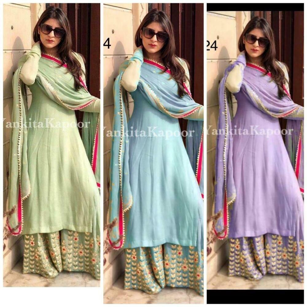 Indian salwar kameez Anarkali Suit Designer Bollywood Ethnic wedding dress Kurti