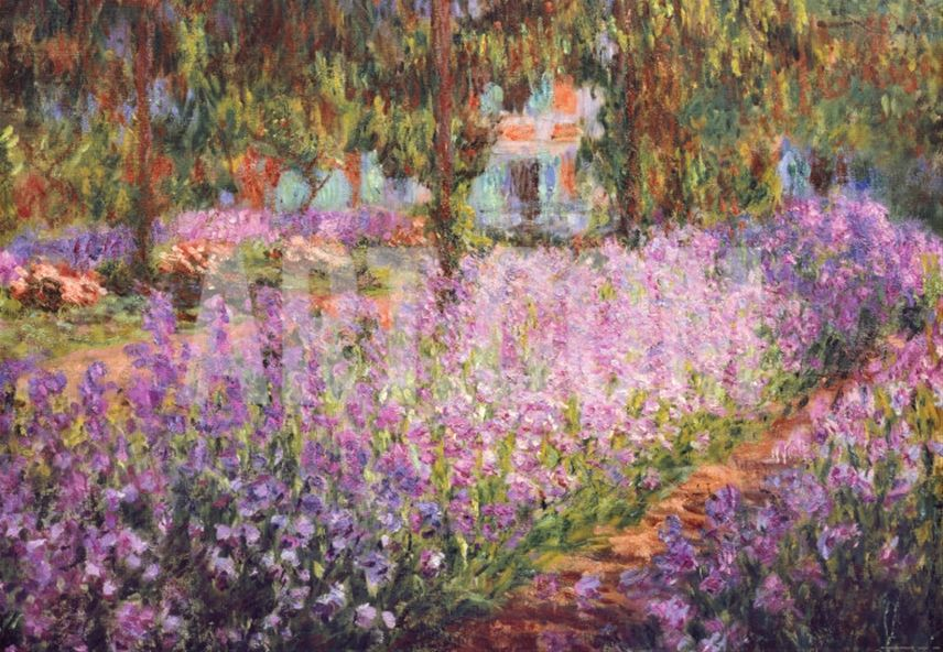 The artists garden at giverny c1900 art print