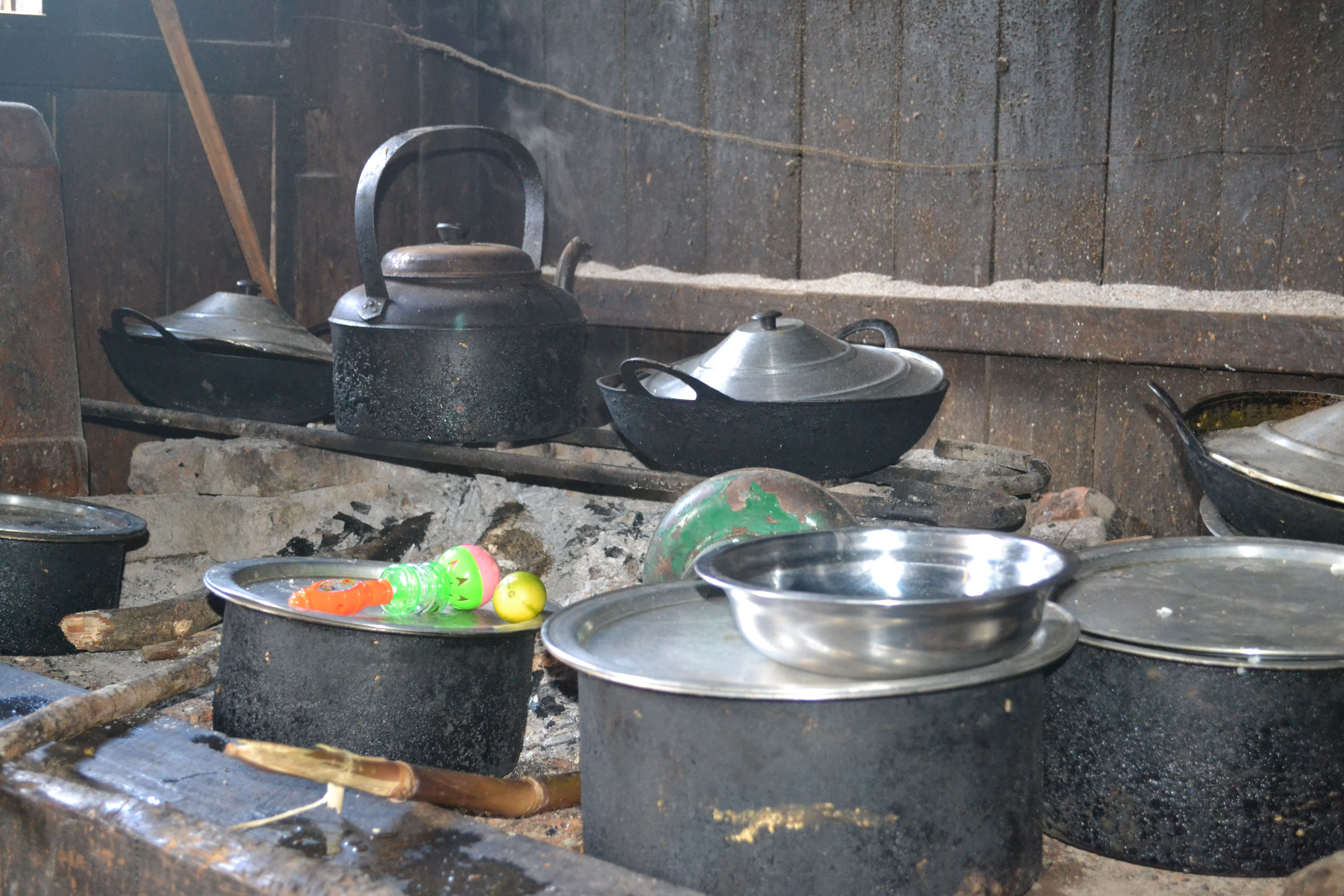 Kitchen And Cooking Materials In Chin State Are Like This Food Security Kitchen Chin State