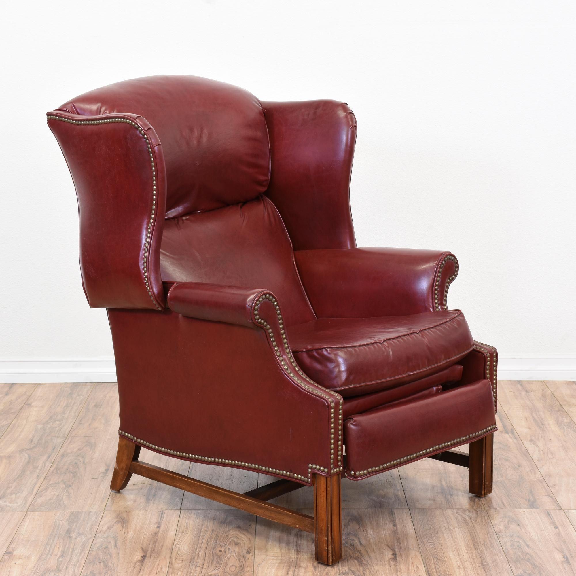 This Armchair Is In Great Condition With A Tall Reclining