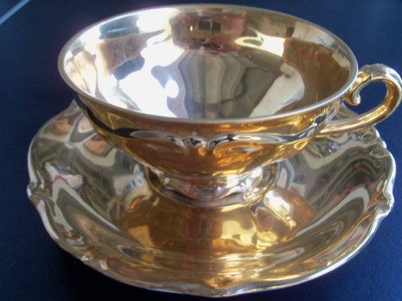 Bavaria Germany Gold Plated Cup \u0026 Saucer : bavaria gold plated tea set - pezcame.com