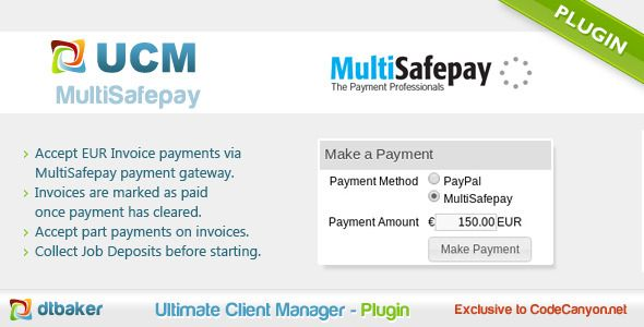 MultiSafepay Payments  MultiSafepay has features such as Software - invoice lite