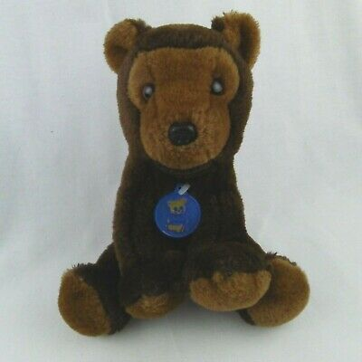 Vintage 1976 Dakin Brown Bear 8.5 Inch Seated Plush Teddy Chest Tag | eBay