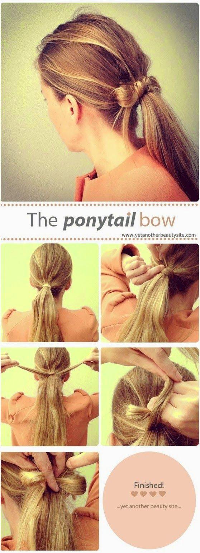 Hairstyle tutorial hair pinterest easy ponytail hairstyles