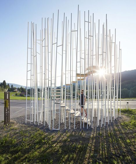 The bus stop created by japanese architect sou fujimoto in austria has been closed because it - Landschaftsarchitektur osterreich ...