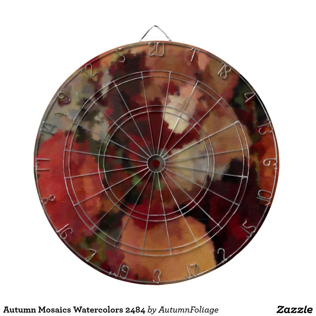 Autumn Mosaics Watercolors 2484 Dartboard