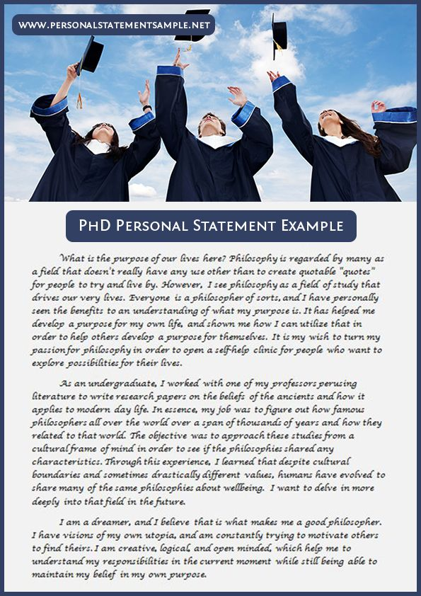Phd Personal Statement Sample Personal Statement Personal Statement Examples Person