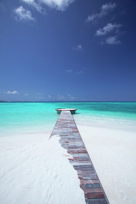 Jetty Leading to the Ocean - Maldives | by: Sakis Papadopoulos