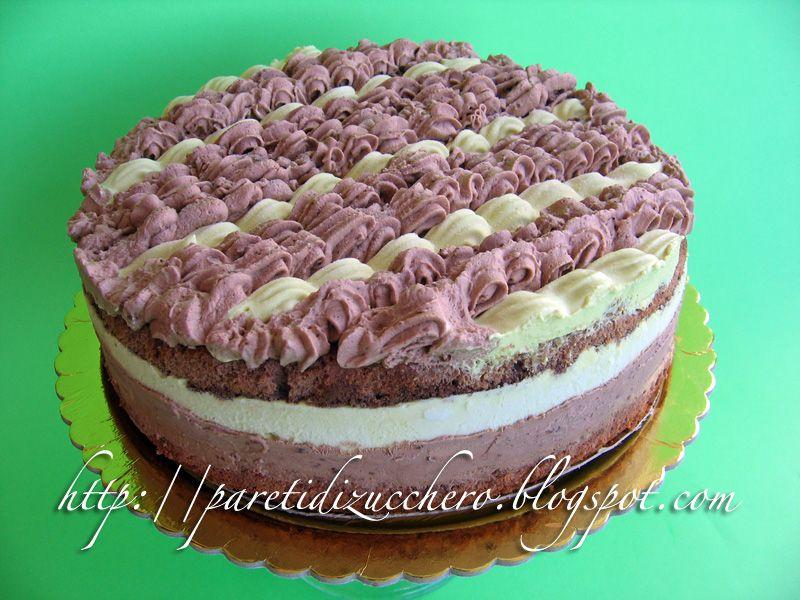 Pareti di Zucchero: Ode a Montersino 2: Torta cremosa chocolatine e pistacchio