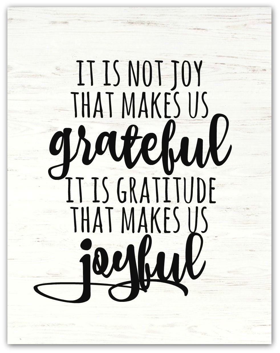 Gratitude Makes Us Joyful! {Farmhouse Printable
