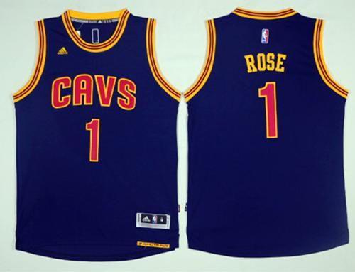 Cleveland Cavaliers  1 Derrick Rose Navy Blue Alternate Stitched NBA Jersey 39d069be1