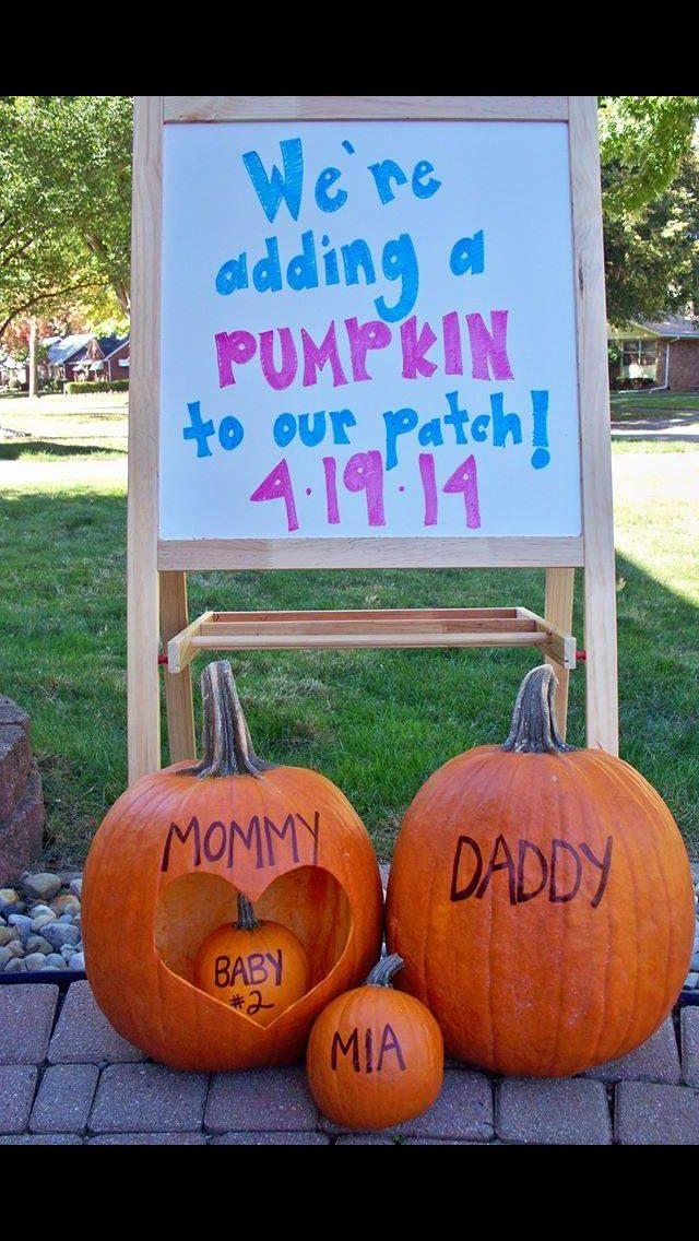 Cute Fall Pregnancy announcement – Fall Birth Announcements