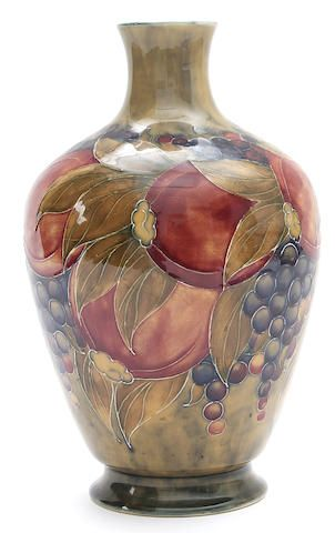 An Early Moorcroft Vase Designed By William Moorcroft Dated 1912