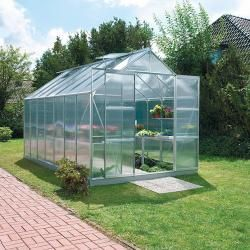 Photo of Vitavia greenhouse Mars 11500 Plus (4.45 x 2.57 x 2.3 m, color: aluminum, polycarbonate, 6 mm) Vita