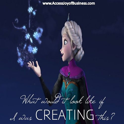 What would it look like if I was CREATING this? ~ Simone Milasas, www.accessjoyofbusiness.com