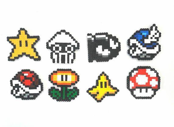 Mario Kart Pixel Art Perler Pixel Art Art Perler Beads