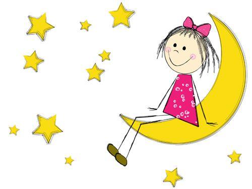 Cenefas de estrellas y lunas buscar con google ninas - Dibujos de lunas infantiles ...
