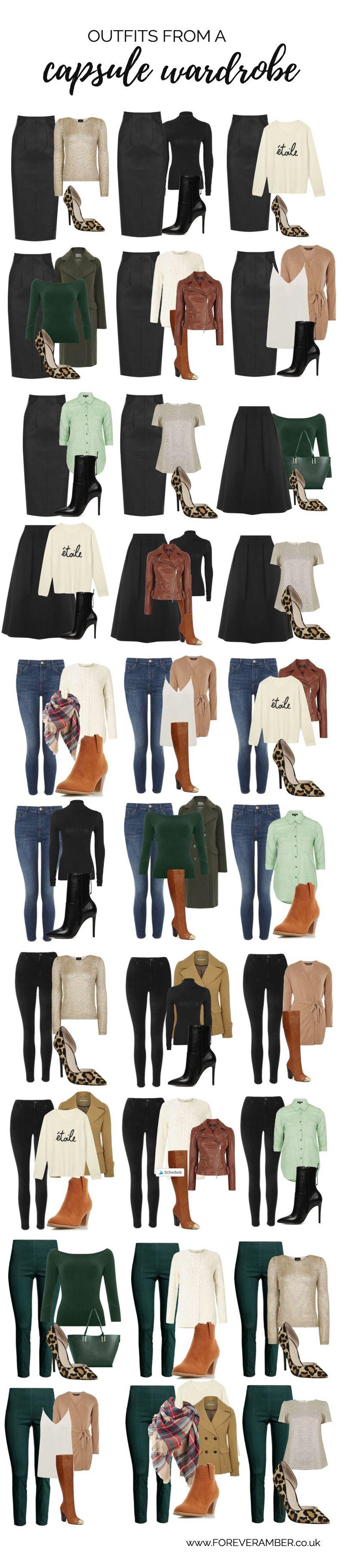 Capsule wardrobe for autumn winter wardrobe essentials