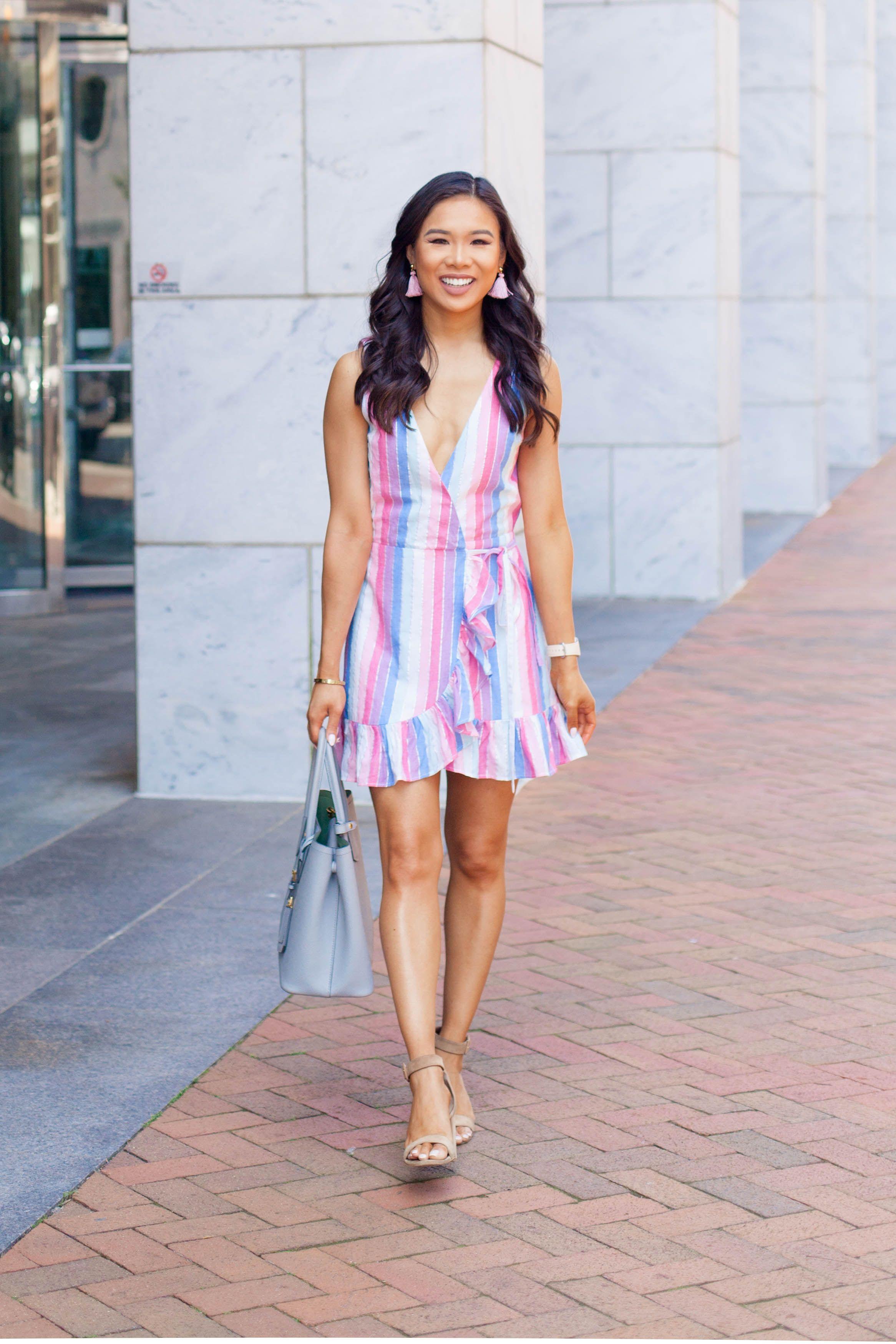 Pastel Rainbow Striped Summer Dress Color Chic Striped Dress Summer Dresses Simple Summer Outfits [ 3498 x 2332 Pixel ]