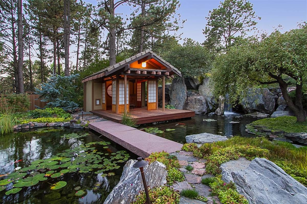 Modern Colorado Home With Amazing Japanese Gardens Asks 3 9m Colorado Homes Japanese Garden Japanese Tea House