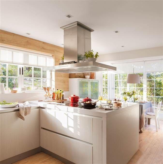 Cocina peque a en blanco separar blanco y cocinas - Cocina office pequena ...