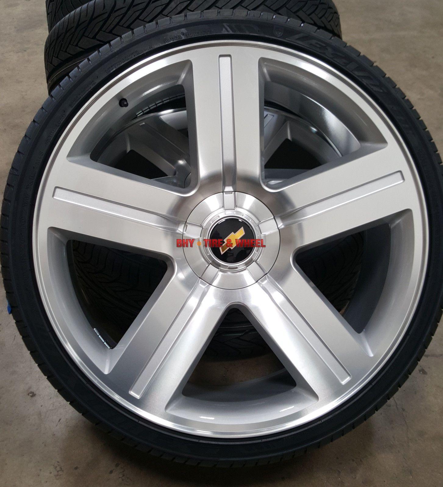 24 Inch Wheels And Tires Texas Edition Style Rims Silverado Silver