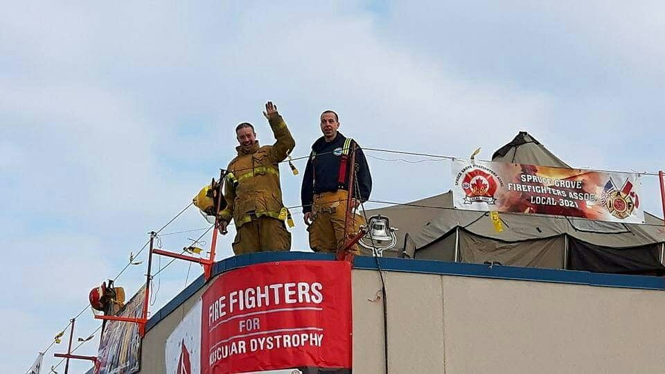 Spruce Grove Firefighters Rooftop Campout Spruce grove