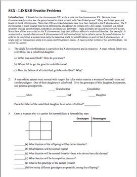 Linked Traits Worksheet - Checks Worksheet