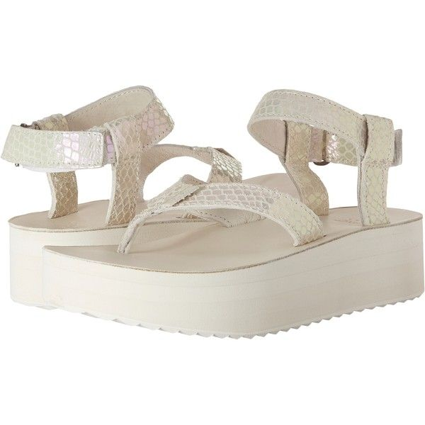 f7612df61f8 Teva Flatform Sandal Iridescent (White) Women s Sandals ( 55) ❤ liked on  Polyvore