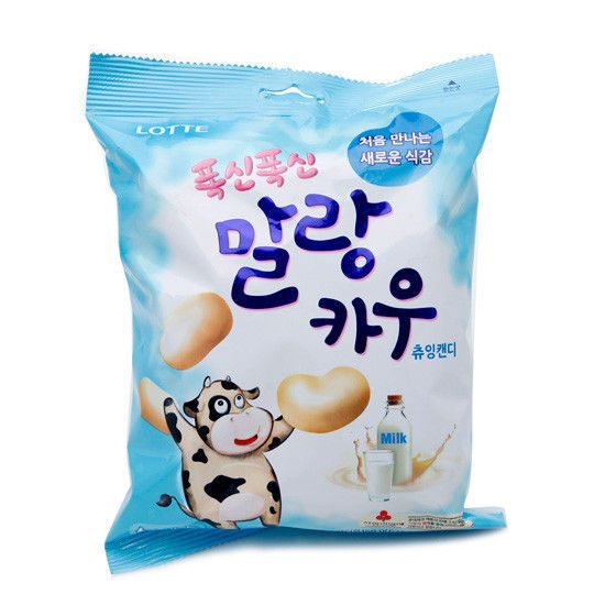 Details About Korean Snacks Milk Malang Cow Soft Chewing Candy 158g Chewy Candy Biscuits Packaging Asian Snacks
