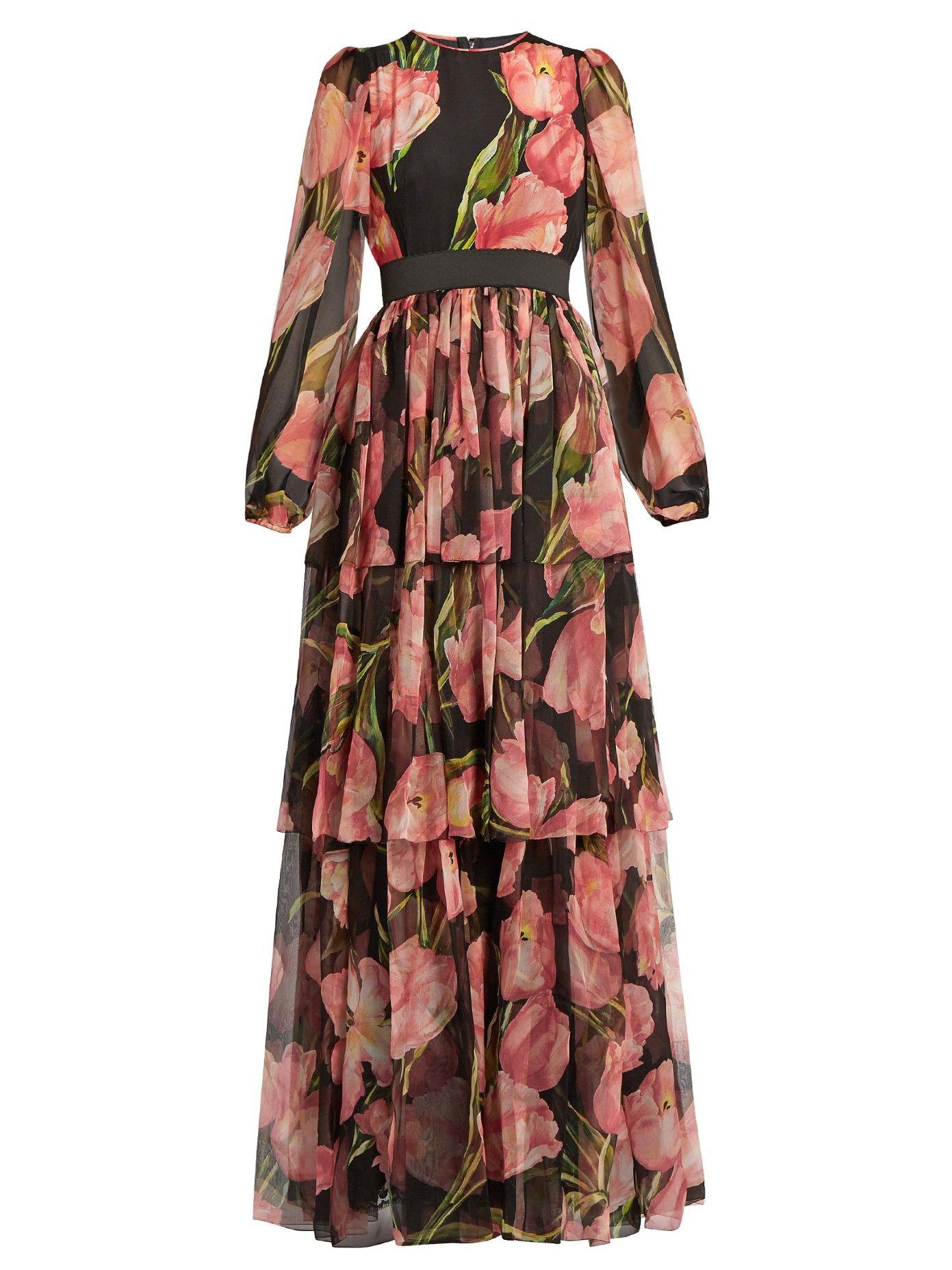 Sale Big Discount Shopping Online Cheap Price ruffle trim dress - Pink & Purple Dolce & Gabbana Shop For For Sale lI6numsYtX