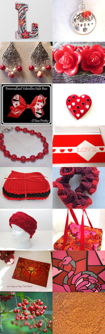 Wonderfully Red by Honeycomb Greetings on Etsy-- @weluvsales @etsy