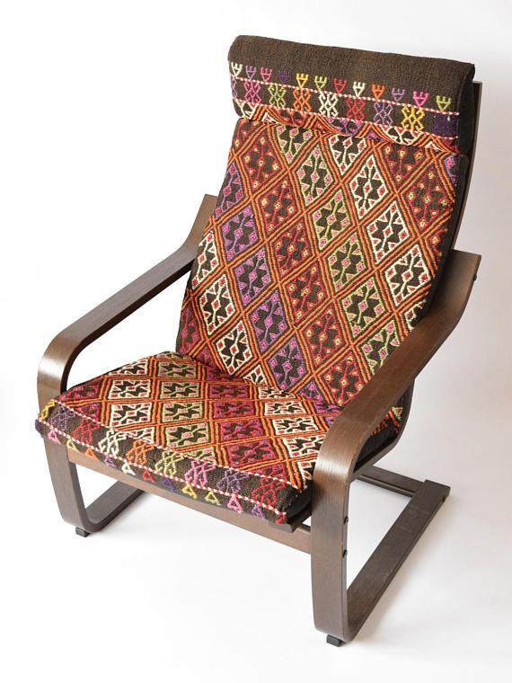 Chair Covers Ikea Furniture Pink Desk No Wheels Poang Cushion Kilim Rug Cover 035 Slipcover Slipcovers Bohemian