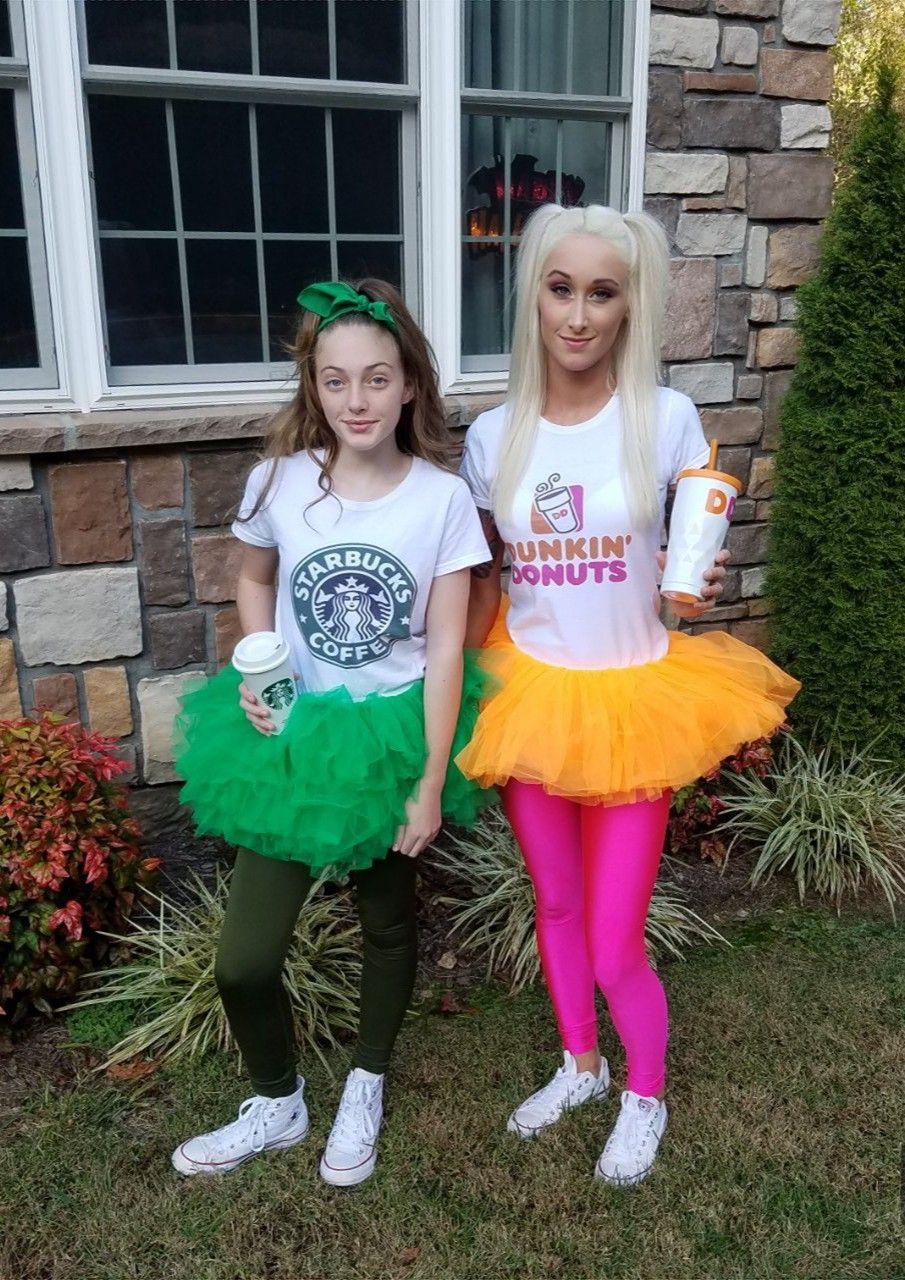 Starbucks and Dunkin Donuts Halloween costumes Donut
