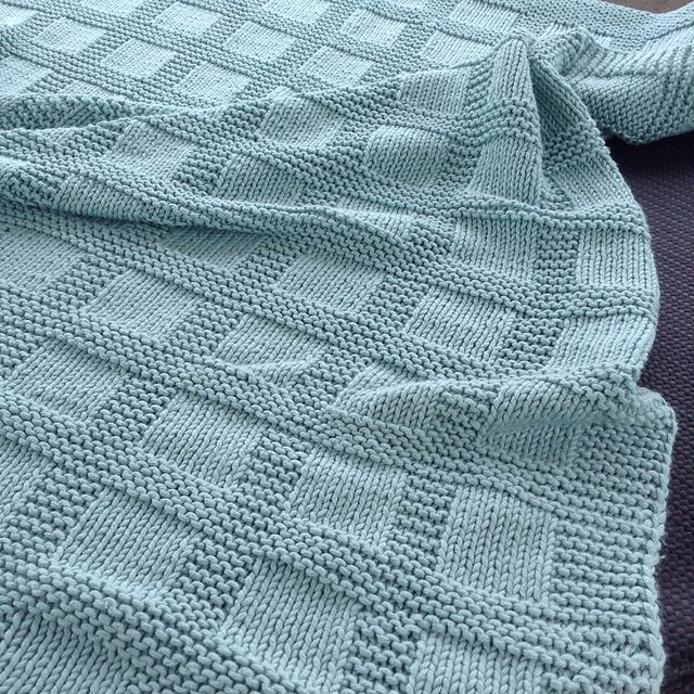 Photo of Ravelry: jamknitter's Basket Rib Blanket – Best Knitting Pattern